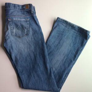 ❤️GUESS- Foxy Flare- Flareleg Distressed Jeans!